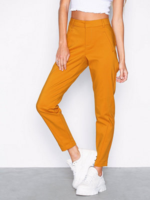 Vero Moda orange byxor Vmvictoria Mr Antifit Ankle Pants C Mörk Gul