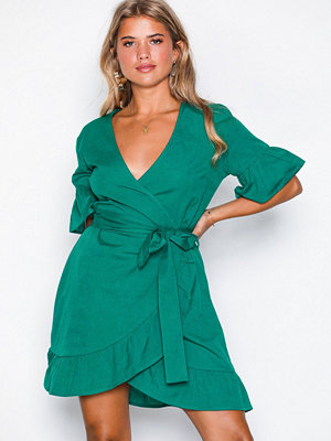 NLY Trend Mini Frill Dress Teal