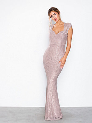 NLY Eve Mermaid Lace Gown Ljus Rosa