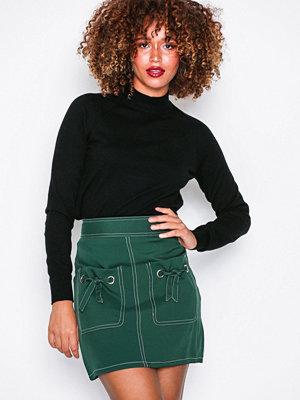 Missguided Contrast Stitch Mini Skirt