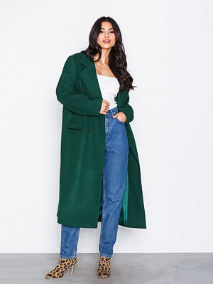 NLY Trend Midi Button Coat Grön