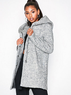 Only onlSEDONA Boucle Wool Coat Otw Ljus Grå