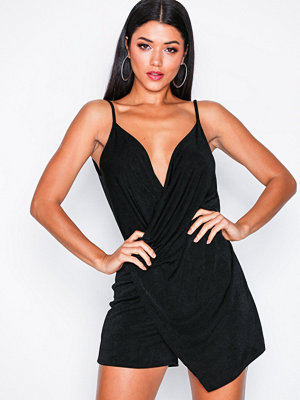 NLY One Asymmetric Playsuit Black
