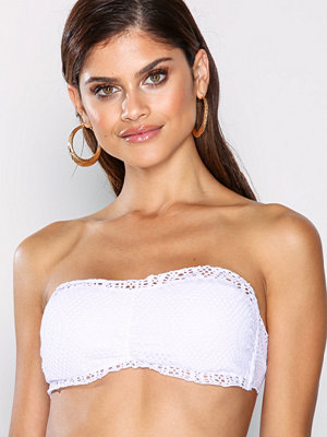 NLY Beach Crochet Bandeau Top Vit