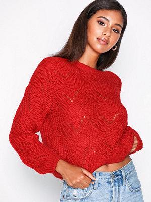 Only onlHAVANA L/S Pullover Knt Noos Röd