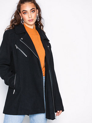 Vero Moda Vmbiker Class 3/4 Wool Jacket Boos Svart