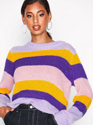 Selected Femme Slfsila Ls Knit O-Neck Ex Ljus Lila
