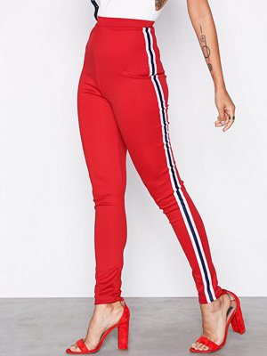 Leggings & tights - Missguided Double Stripe Leggings Red