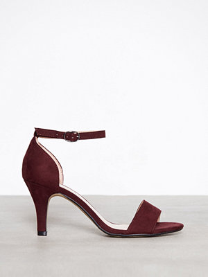 Bianco Low Basic Sandal Burgundy