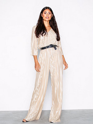 NLY Trend Pleated Strap Jumpsuit Champagne