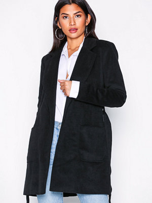 Pieces Pcdebby Belt Trenchcoat Bf Svart