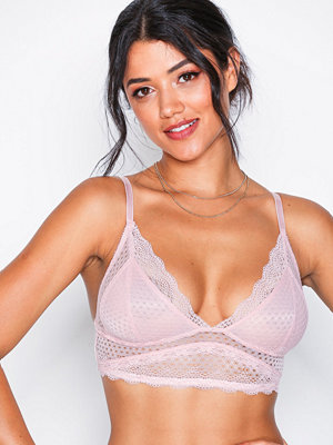 NLY Lingerie Soft Lace Bra Dusty Rose