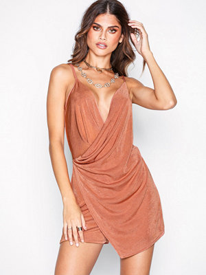 NLY One Asymmetric Playsuit Rust