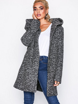 Only Onlsedona Boucle Wool Coat Otw Noos Mörk Grå