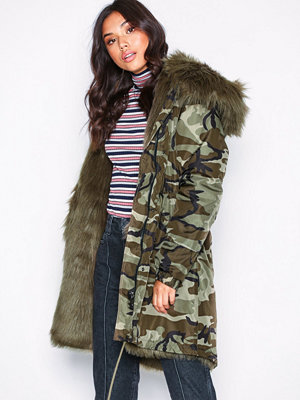 NLY Trend Camo Fur Parka