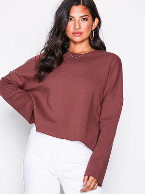 NLY Trend Cropped Slit Sweat