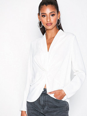 River Island Twist Front Blouse Ivory