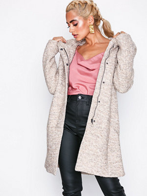 Only Onlsedona Boucle Wool Coat Otw Noos Ljus Brun