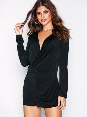 NLY One Asymmetric Wrap Playsuit