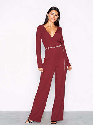 NLY Trend Wrap Rib Jumpsuit