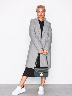 New Look Single Breasted Formal Coat Grey