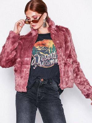 Fuskpälsjackor - Only onlVIVA Fur Jacket Cc Otw Ljus Rosa