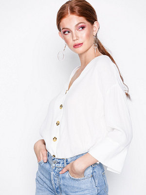 River Island Casual Blouse With Buttons White