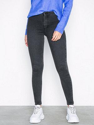 Jeans - Topshop Black Joni Jeans Washed Black