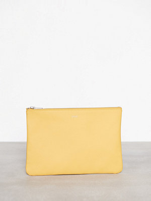 Dagmar gul axelväska Leather Strap Bag Mustard