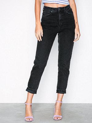 Topshop Washed Black Mom Jeans Washed Black