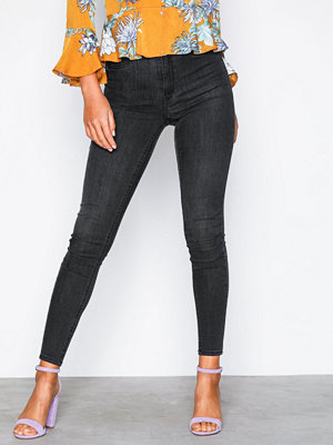 Gina Tricot Molly High Waist Jeans Black Grey