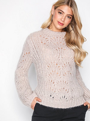 Tröjor - Filippa K Pointelle R-neck Sweater Porcelain