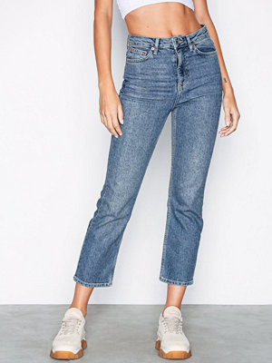 Topshop MOTO Mid Blue Straight Jeans Mid Blue