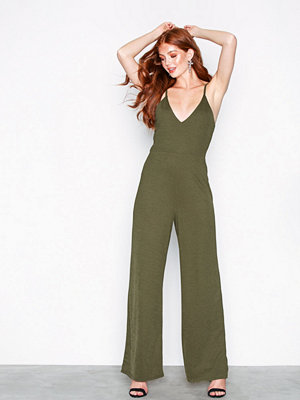 NLY Trend Wide Pants Jumpsuit Khaki