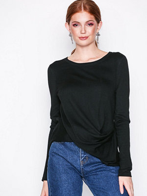 River Island Twist Jumper Ambrose Top Black