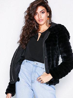 Fuskpälsjackor - Vila Vimaya Faux Fur Jacket/1 Svart