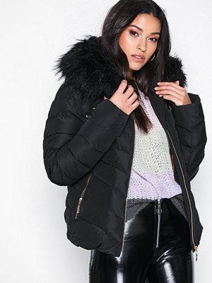 Dunjackor - Hollies Chatel Gold Zip Fake Fur Svart