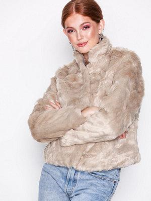 Only onlVIVA Fur Jacket Cc Otw Ljus Grå