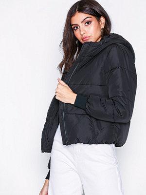 Jacqueline de Yong Jdyerica Short Padded Hood Jacket O Svart