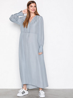 Filippa K Flowy Silk Dress Blue
