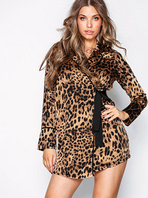 Missguided Animal Print Wrap Dress