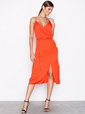 River Island Knot Front Slip Dress Red