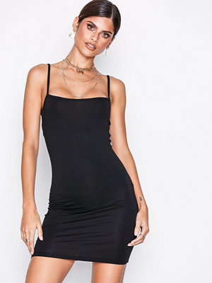Missguided Square Neck Bodycon Dress Svart