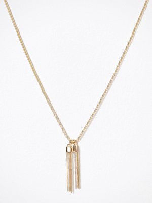 Pieces halsband Pctessa Long Necklace Guld