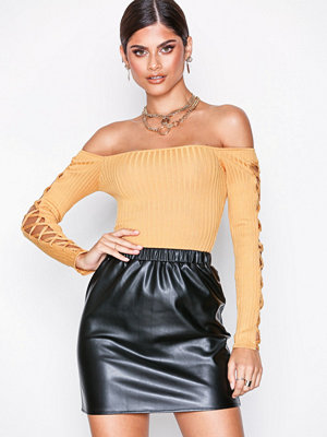 Missguided PU Mini Skirt Black
