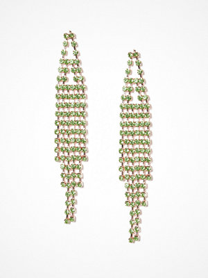NLY Accessories örhängen Rhinestone Drop Earrings Lime Green