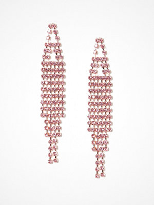NLY Accessories örhängen Rhinestone Drop Earrings Rosa
