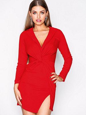 Missguided Twist Front Mini Dress Red