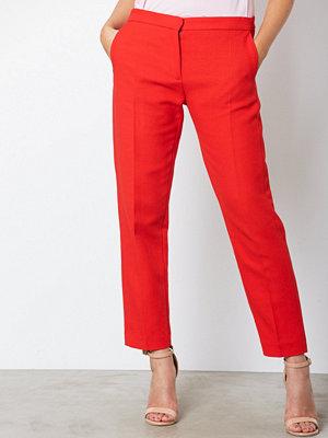Samsøe & Samsøe röda byxor Nell pants 7968 Flame Scarlet