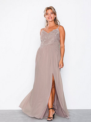 Little Mistress Crochet Maxi Dress Mink